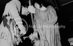 Neil Young and Jim Messina of Buffalo Springfield on 4-26-68 at the Exhibit Hall in Phoenix Arizona. Photo by Tom Franklin