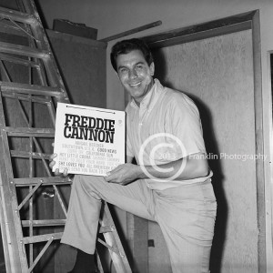 Freddie Cannon with his record. Photo by Johnny Franklin