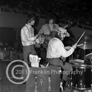 8396 All of the band members of Jefferson Airplane but without Grace. This was taken at a performance  on 5-24-68 at the Coliseum in Phoenix Arizona. Photo by Tom Franklin.