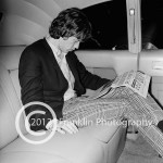 8397 This is a shot of Mick Jagger in his limo. Photo by Tom Franklin.