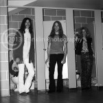 8423 Randy Holden, Paul Whaley, and Dickie Peterson of Blue Cheer backstage at the Coliseum in Phoenix Arizona on 10-5-68. Photo by Tom Franklin