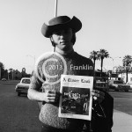 "8444 Steven Stills of Buffalo Springfield holding ""A Closer Look"" Magazine on 4-26-68 at the Exhibit Hall in Phoenix, Arizona. Photo probably by Johnny Franklin"