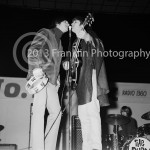 8456 Gene Clark and David Crosby of the Byrds performing at the Coliseum in Phoenix Arizona in1965. Photo by Tom Franklin.