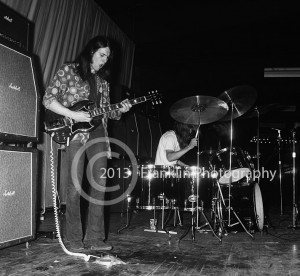 8459 Leigh Stephens and Paul Whaley of Blue Cheer onstage at the Exhibit Hall in Phoenix Arizona on 3-30-68. Photo by Tom Franklin