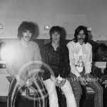 8644 Danny Hutton, Cory Wells, and Chuck Negron of Three Dog Night backstage at the Coliseum in Phoenix Arizona on 12-31-68. Photo by Tom Franklin.