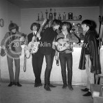 8648 Backstage shot of The Byrds at the Coliseum in Phoenix Arizona in 1965. Photo by Tom Franklin.