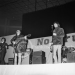 8660 David Crosby and Gene Clark of The Byrds performing at the Coliseum in Phoenix Arizona in 1965. Photo by Tom Franklin.