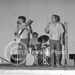 8724 Brian Wilson, Al Jardine and Dennis Wilson of the Beach Boys in concert on August 7, 1964 in Phoenix Arizona. Photo by Tom Franklin.