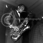 8857 Saxophone player for Fats Domino. If you know this man's name please contact us. Photo by Johnny Franklin.
