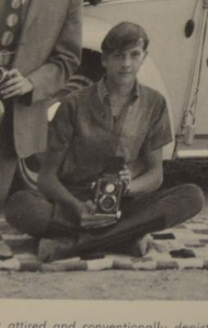 A young Tom Franklin with his school camera that he used to take many of the pictures featured here on the website.