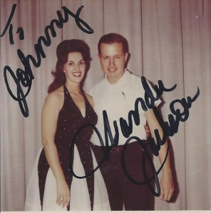 A young Johnny Franklin with Wanda Jackson