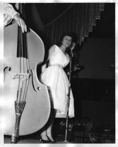 Margie Bowes at the Riverside Park Ballroom. Photo by Johnny Franklin.