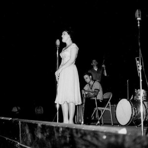 Patsy Cline at an outdoor concert in 1962. Photo by Johnny Franklin.